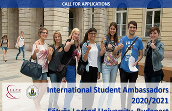 Eötvös Loránd University Seeks International Student Ambassadors (2020/21)